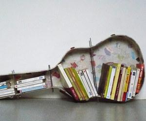 book, guitar, and diy image