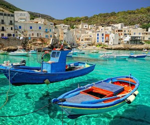 boat, italy, and sea image