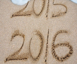 2016, new year, and beach image