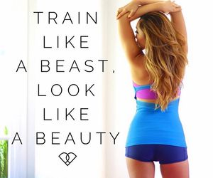 beast, beauty, and fitness image