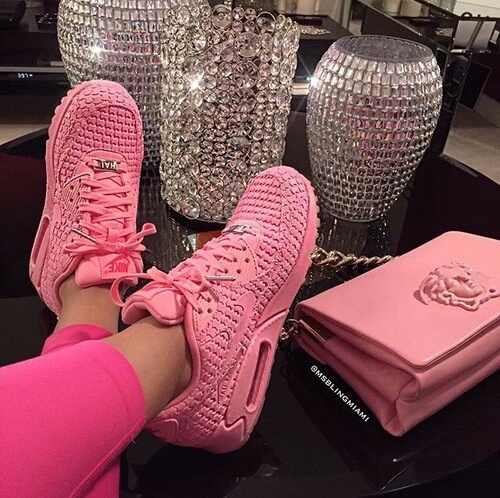 pink, luxury, and nike image