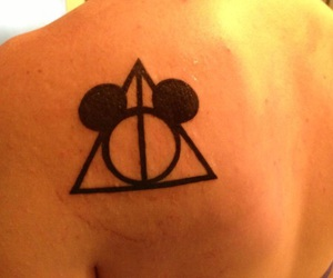 disney, tattoo, and harry potter image
