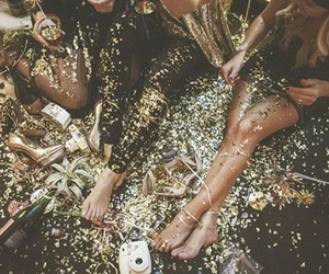 glitter, party, and gold image