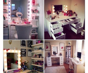 beauty, room, and makeup image