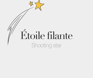 shooting star and etoile filante image