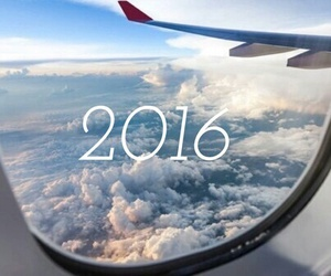 2016, airplane, and clouds image