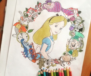 alice in wonderland, aliceinwonderland, and drawing image