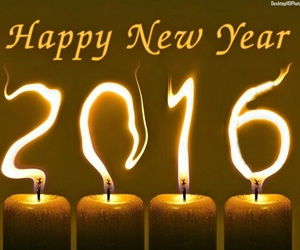 2016, candle, and happy new year image