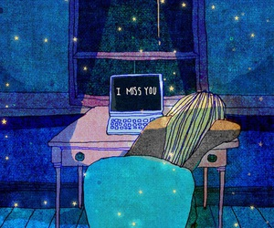 i miss you, night, and miss image