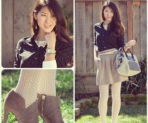 bag, skirt, and fall image