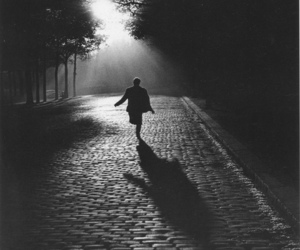 photography, run, and black and white image