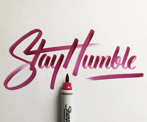 quote, stay humble, and art image