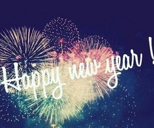 happy, fireworks, and new year image