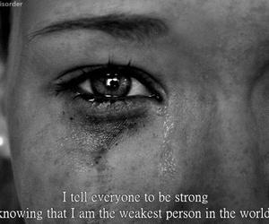 strong, sad, and weak image