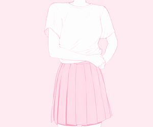 pink, girl, and manga image