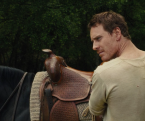 michael fassbender, silas, and slow west image