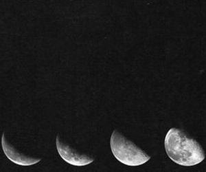 moon, header, and dark image