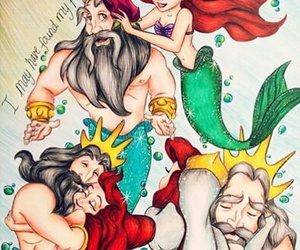 the little mermaid and king of ocean image