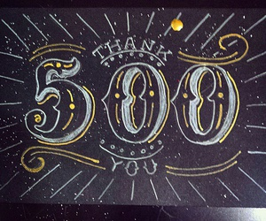 500, followers, and thankyou image