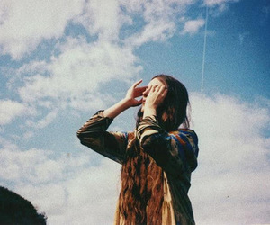 girl, indie, and sky image