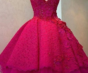 beautifull, dress, and red image