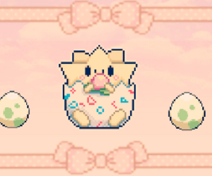 egg, pastel, and pixel image