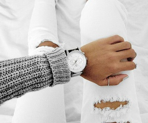 fashion, white, and watch image