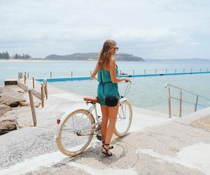 coast, palm beach, and girl on the beach image