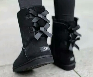 ugg, black, and shoes image