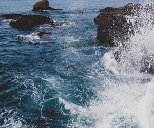 water, waves, and sea image