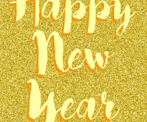 2016, glitter, and happy new year image