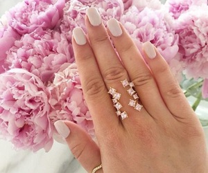 ring, flowers, and nails image