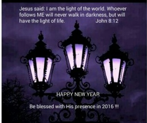 light, words, and happy new year 2016 image
