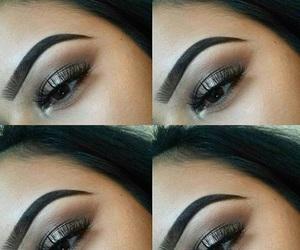 art, dark makeup, and eyes image