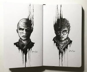 harry potter, voldemort, and art image