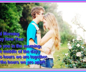 good morning, wishes, and love couples image