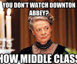 downton abbey, maggie smith, and funny image