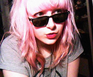 lips, pink, and pink hair image