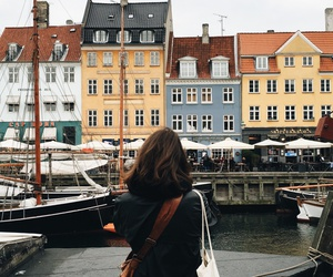 girl, travel, and city image