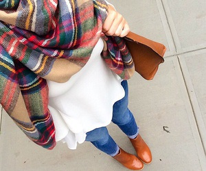 fashion, scarf, and fall outfit inspiration image