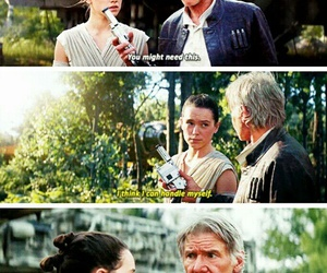 han solo, jedi, and rey image