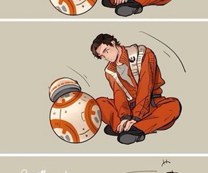 star wars, bb-8, and poe image