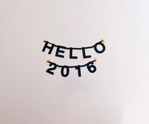2016, new year, and hello image