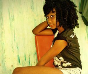 Afro, black girl, and curl image