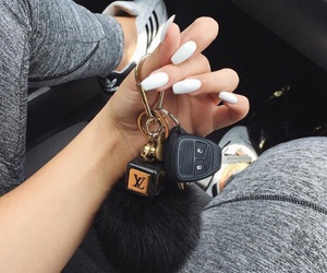 nails, luxury, and car image