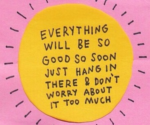 quotes, sun, and pink image