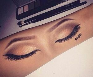 makeup, girl, and art image
