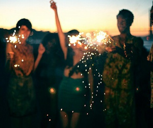 friends, summer, and party image