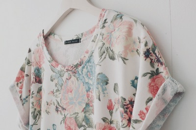 fashion, flowers, and shirt image