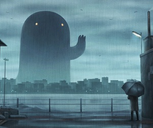 rain, art, and monster image